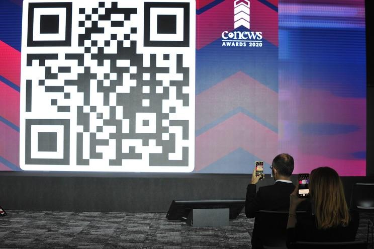 Голосовать за разработчиков в конкурентных номинациях можно было с помощью QR-кода