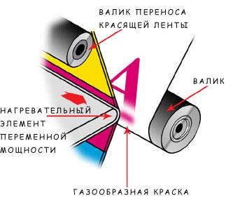 Технология сублимационной печати изрядно упрощен и внешне напоминает картриджи фотоаппаратов Polaroid