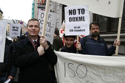 Демонстрация против OOXML в Норвегии