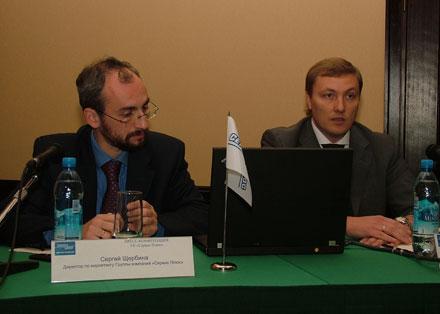 Сергей Щербина и Александр Поляков, директор по маркетингу  и генеральный директор «Сервис Плюс» (слева направо)