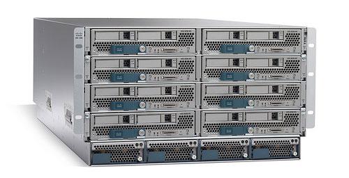 Система Cisco Unified Computing с восьмью блейд-серверами UCS B-Series