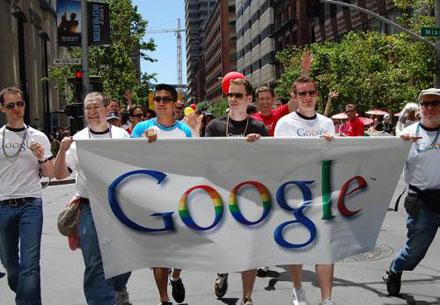 Компанией, в штате которой больше всего геев и лесбиянок в США считается Google