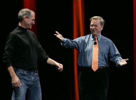 Стив Джобс попращался с Эриком Шмидтом