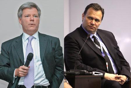 Роберт Эйджи (слева) передаст управление российским офисом Cisco Полу Бетсису