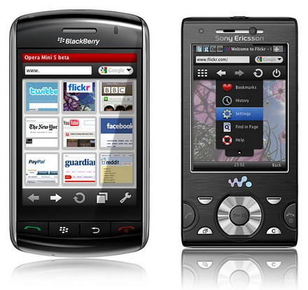 opera mini pour blackberry curve 9360