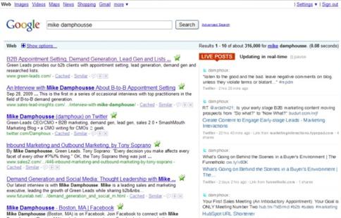 Google презентує пошук у реальному часі
