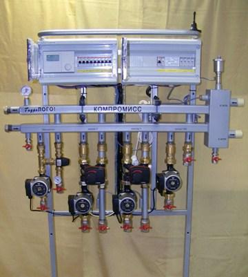 Система отопления с диспетчеризацией