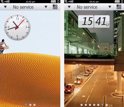 Обновленный домашний экран Symbian^4 с виджетами