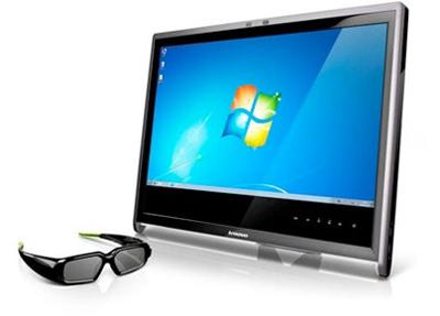 Lenovo представила игровой 3D-монитор на базе Nvidia 3D Vision=