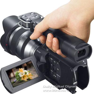 Sony представила потребительские видеокамеры с поддержкой 3D=