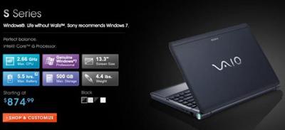 Sony выпустила кастомизируемые ноутбуки Vaio S=