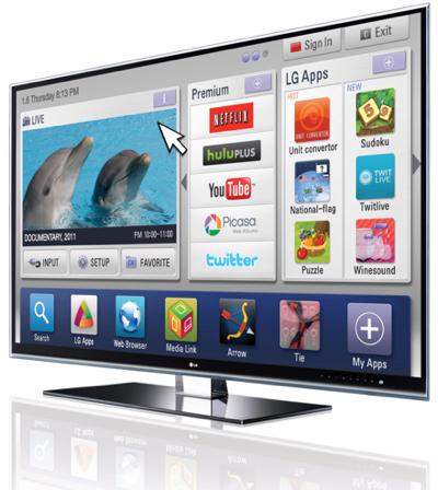 Телевизор LG с функцией  LG Smart TV