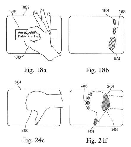 Варианты жестов, предлагаемые с новой технологией