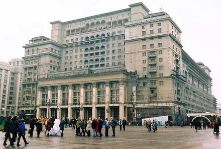 Магазин может быть размещен в гостинице «Москва» на Манежной площади