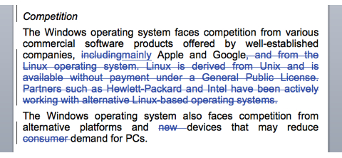 Microsoft исключила Linux из списка конкурентов