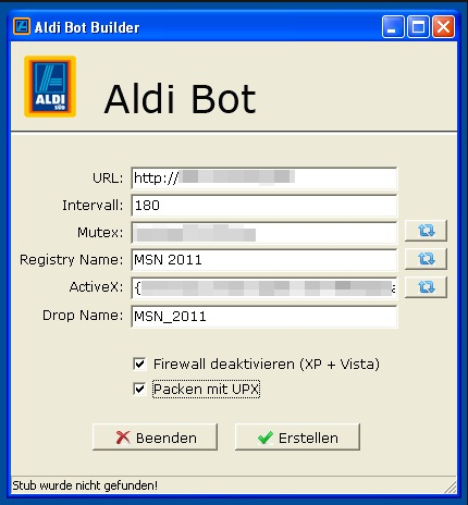 Интерфейс бот-конструктора Aldi Bot