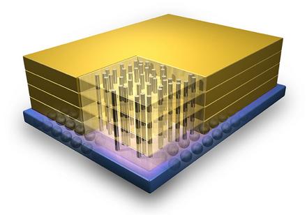 Компьютерное изображение элемента Micron Hybrid Memory Cube
