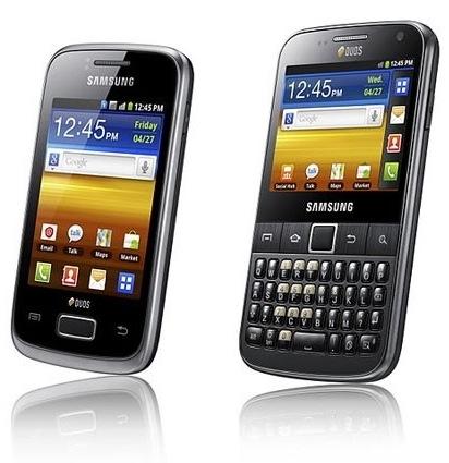 Samsung Galaxy Y Duos и Galaxy Y Pro Duos