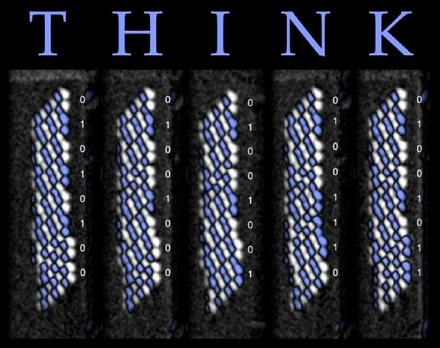 «Think» - по 96 атомов на букву