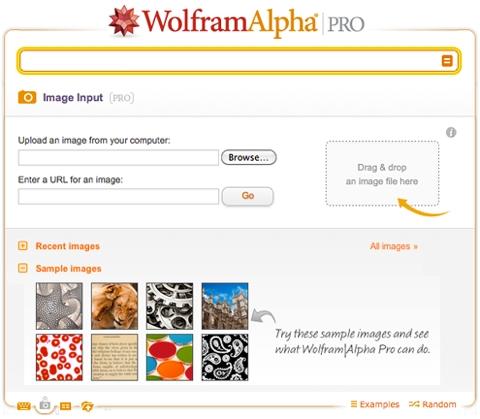 Функция анализа изображения, реализованная Wolfram Alpha