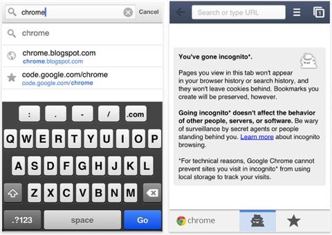 Вышел Google Chrome для iPhone, iPod touch и iPad