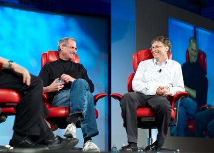 Стив Джобс и Билл Гейтс в совместном интервью
