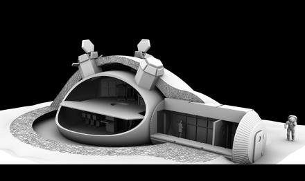 Лунная база из 3D принтера