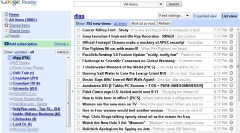 Многие RSS-ридеры используют Google Reader для синхронизации