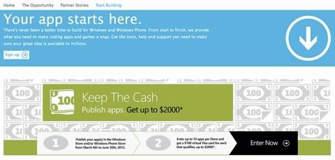 Опубликовав 20 приложений до 30 июня, можно получить $2 тыс.