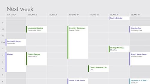 В приложении «Календарь» улучшена читаемость