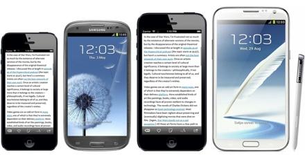 Сравнение iPhone 5S с двумя различными экранами с другими мобильниками