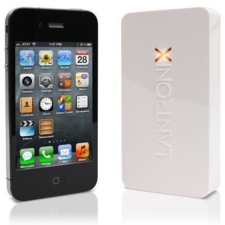 Принт-сервер Lantronix xPrintServer по размерам сопоставим с iPhone