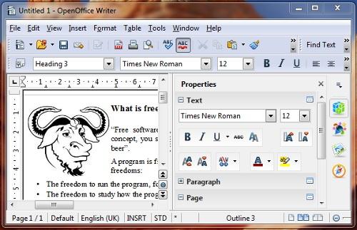 Новый интерфейс OpenOffice