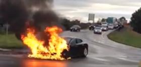 Сгоревший электромобиль обрушил акции Tesla
