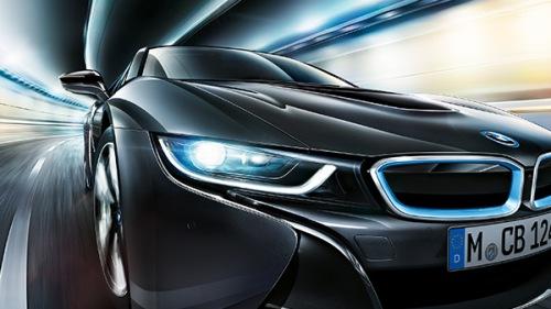 Лазерные фары, установленные на BMW i8, будут освещать расстояние в 600 метров