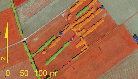 Система ALEK поддерживает снимки самого высокого разрешения (20 см), аэрофотоснимки и цифровые модели поверхности, осуществляет автоматическое определение параметров вегетации растений