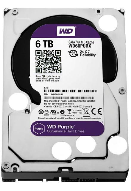 Накопитель WD Purple с 6 ТБ памяти