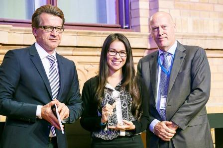 Тамара Паттон получает награду Copernicus Master