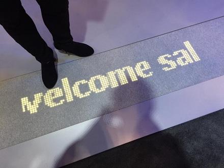 Светодиодный ковер Luminous Carpet от Philips поприветствует новых посетителей