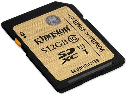 Новая модель емкостью 512 ГБ в линейке Class 10 UHS-I SDHC/SDXC