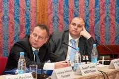 Президиум (слева направо): Александр Любинский (Россервис), Леонид Гладких (МНПП Намип)