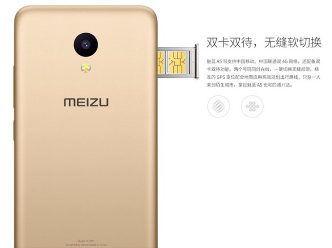 Meizu выпустила 100-долларовый смартфон А5 сбатареей на3060 мАч