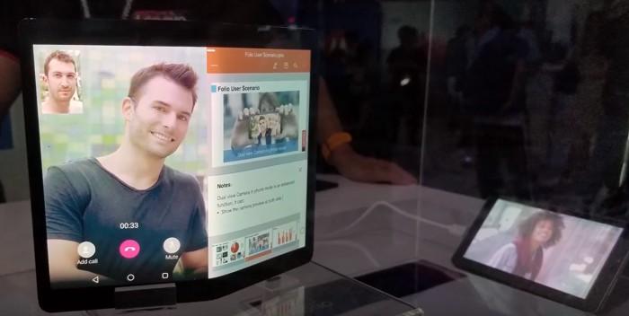 Lenovo показала гибкий планшет