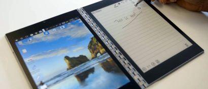 Intel выпустила ноутбук с двумя дисплеями. Фото