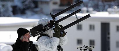 На форуме в Давосе применяют «пулеметы-глушилки» для защиты от дронов