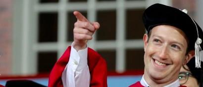 Цукерберг получил диплом брошенного 12 лет назад Гарварда, вытерпев издевательства его газеты
