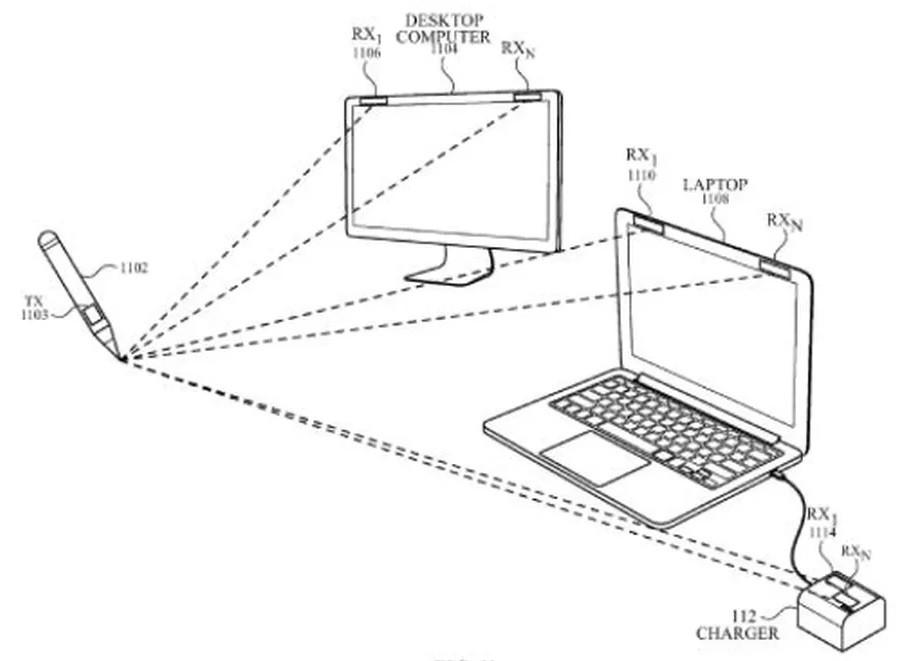 Apple желает запатентовать стилус, который может рисовать налюбых поверхностях