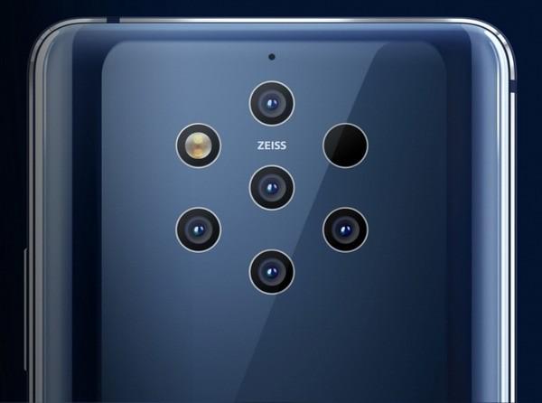 Пять камер и яркая вспышка смартфона Nokia 9 PureView