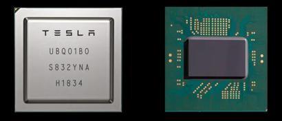 Tesla выпустила собственный чип для беспилотных автомобилей. Он быстрее чипов Nvidia в семь раз