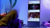 Samsung выпустила уникальный вертикальный телевизор